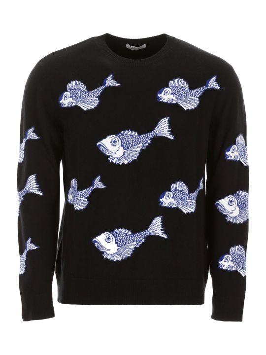 Valentino Fish Embroidery Pullover