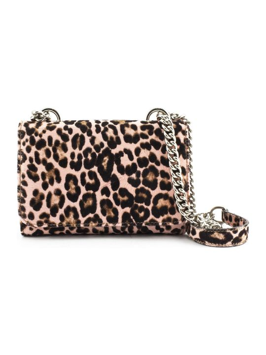 Roberto Festa Pink Leopard Spotted Ponyskin Clutch