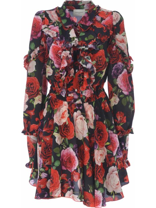 Giuseppe di Morabito Floral Flared Dress