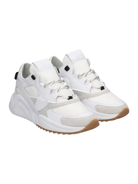 Philippe Model Eze Sneakers In White Tech/synthetic