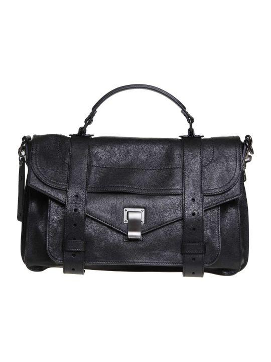 Proenza Schouler Ps1 Shoulder Bag In Black Leather