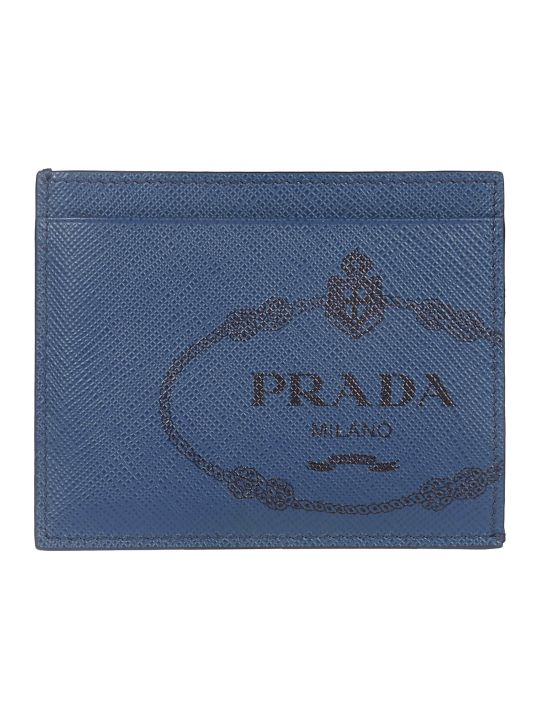 Prada Logo Print Card Holder