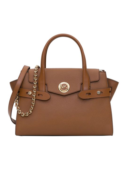 MICHAEL Michael Kors Carmen Lg Solid Saffiano Leather Handbag