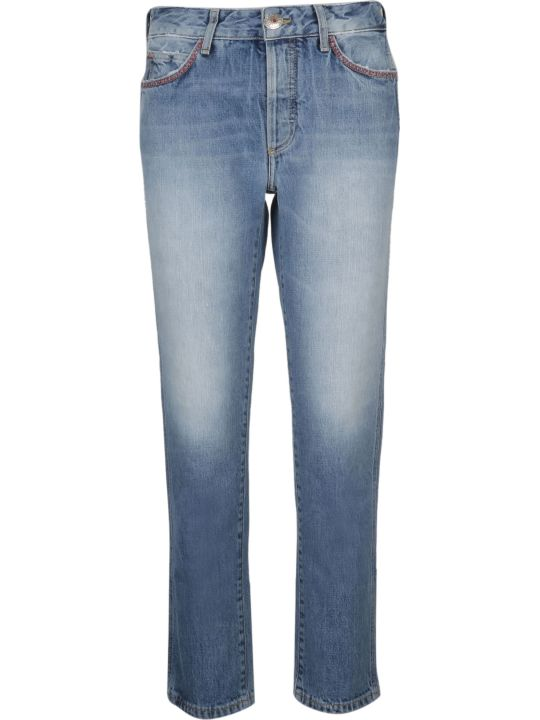 Alanui Embroidered Skinny Jeans