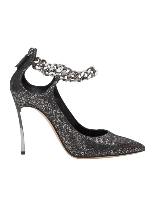 Casadei Pumps With Chain Detail