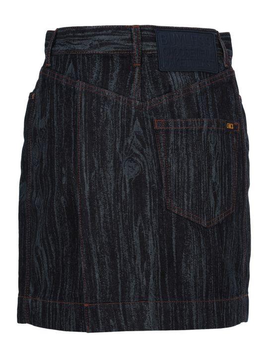 Vivienne Westwood Anglomania Anglomania Wood Effect Denim Skirt
