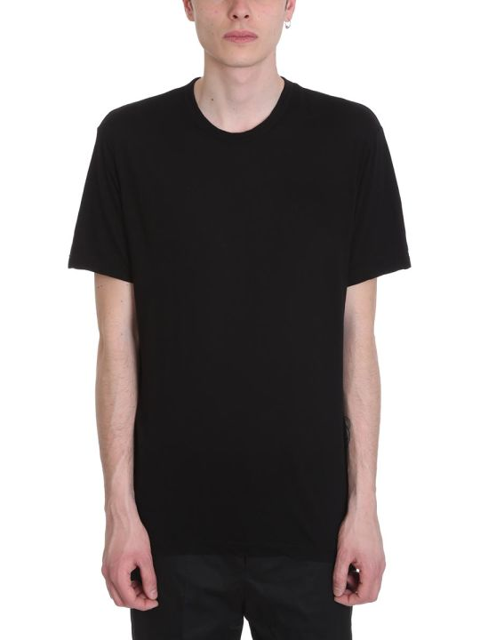 James Perse Black Melange Cotton T-shirt