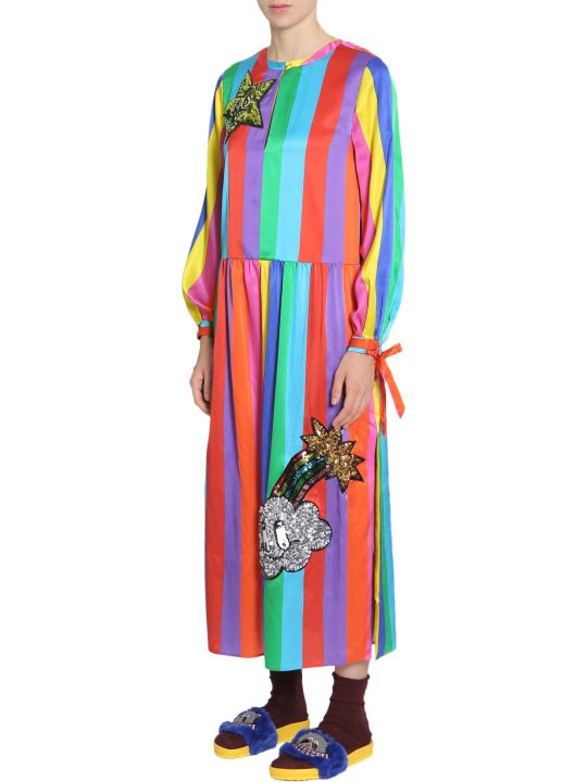 Mira Mikati Silk Blend Rainbow Dress