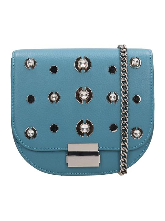 Lola Cruz Guss Light Blue Leather Bag