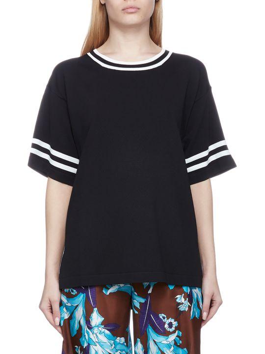 Parosh Stripe Sleeved T-shirt