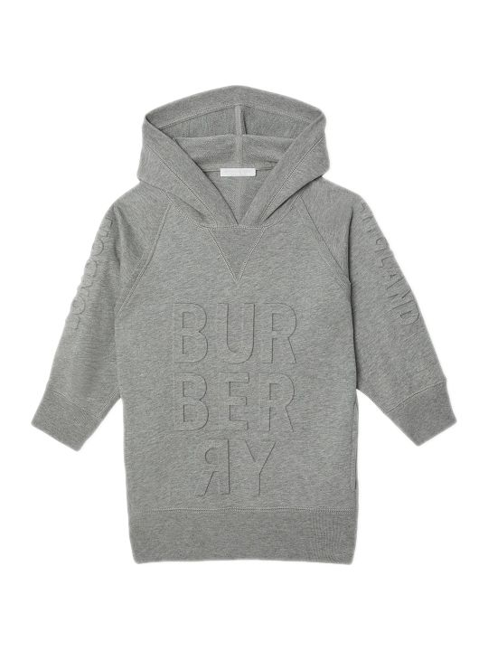 Burberry Grey Cotton Sweater Dress