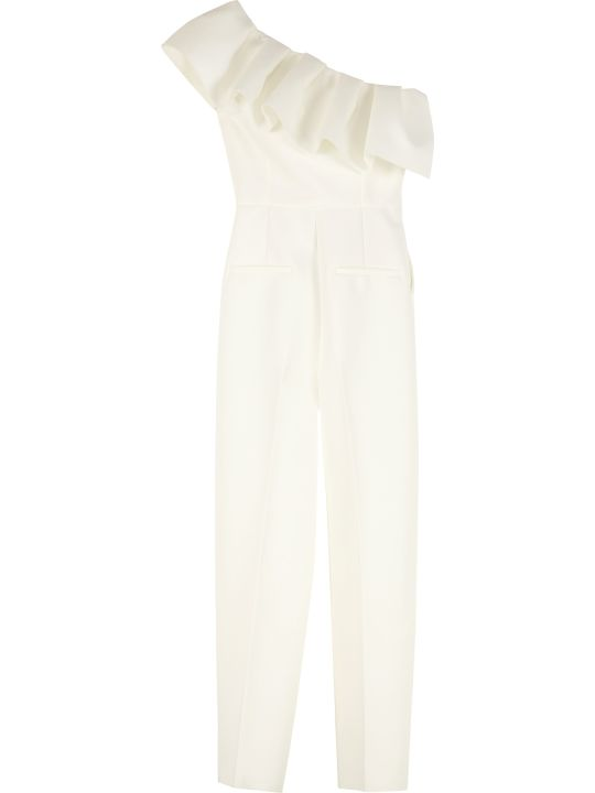 MSGM Ruffled One-shoulder Jumpsuit