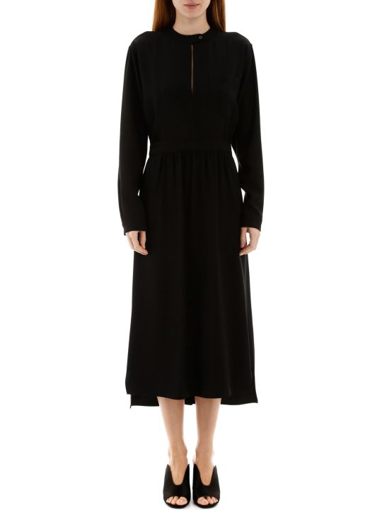 Prada Midi Dress With Buttoned Back