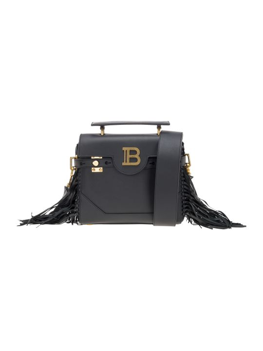 Balmain B-buzz 23 Fringed Tote Bag