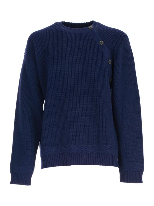 Lanvin Sweater L/s Buttoned Collar