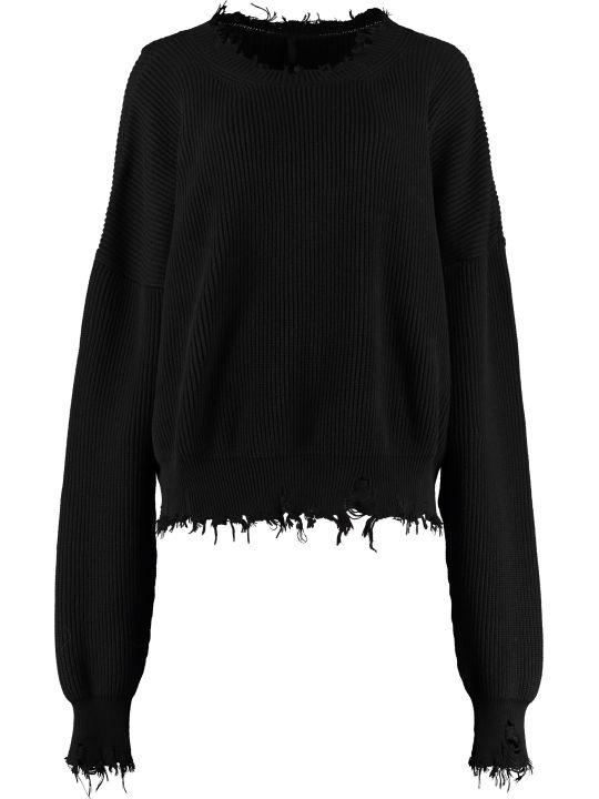 Ben Taverniti Unravel Project Crew-neck Cotton-cashmere Pullover