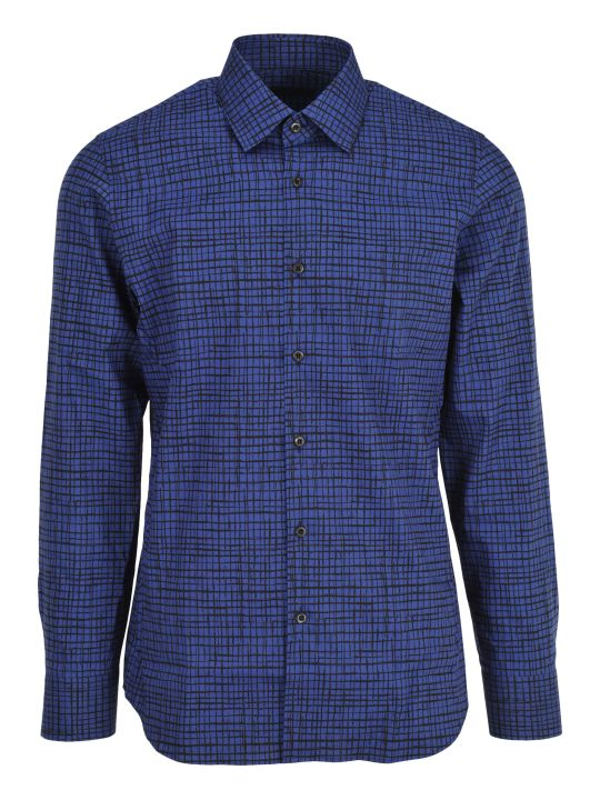 Prada Camicia Classic Fit Check Print