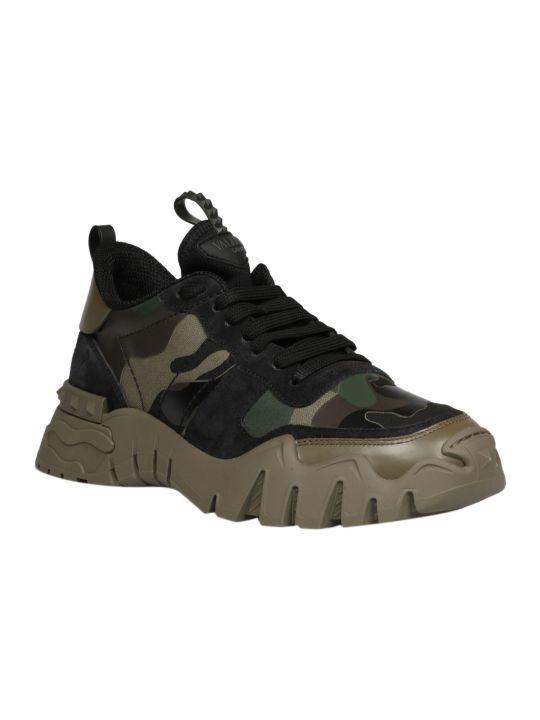 Valentino Garavani Rockrunner Plus Camouflage Sneakers