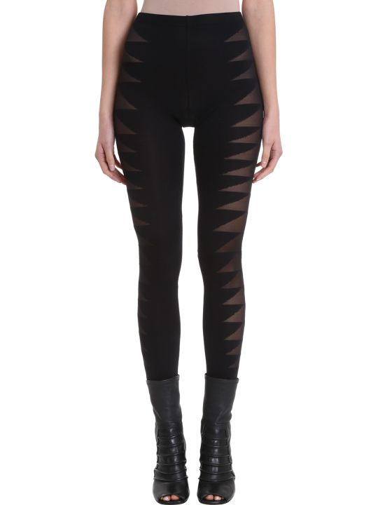Rick Owens Lilies Black Technical Fabric Leggins