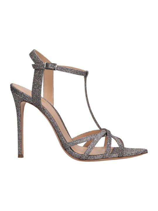 Lerre Silver Glitter Sandals