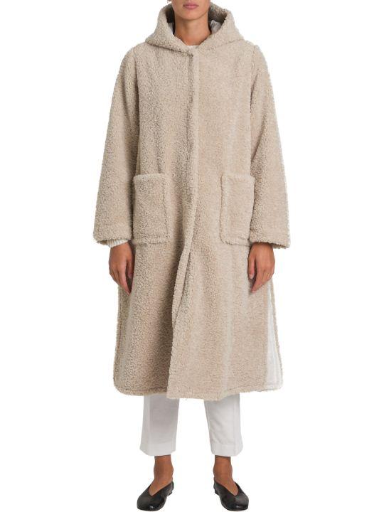 Forte_Forte Hooded Teddy Long Coat