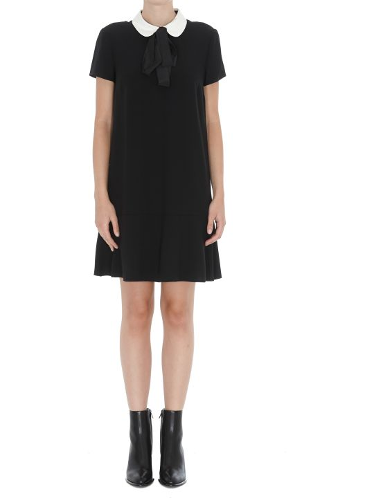 RED Valentino Short Dress With Collar Detail