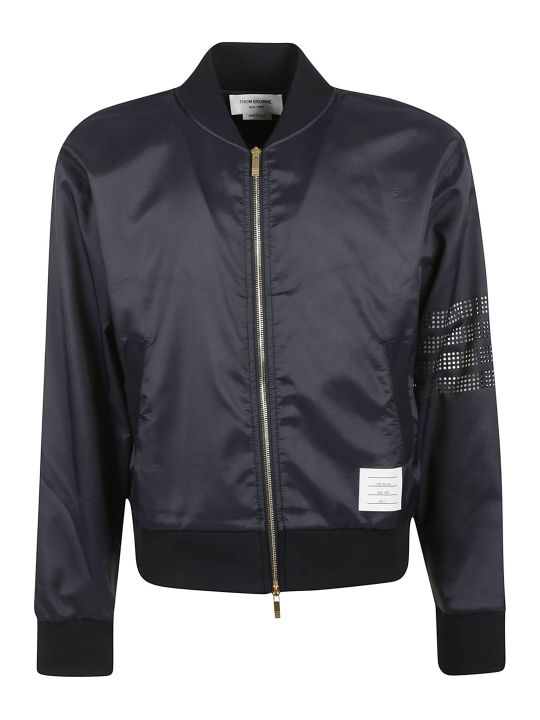 Thom Browne Perforated 4-bar Bomber