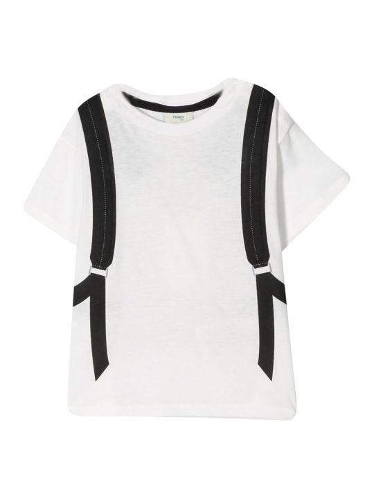 Fendi Kids Bag Bug Print T-shirt