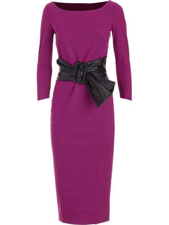La Petit Robe Di Chiara Boni Dress Boat Neck W/faux Leather Belt