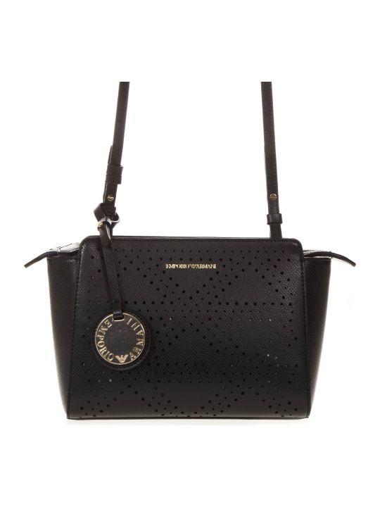 Emporio Armani Black Faux Leather Bag