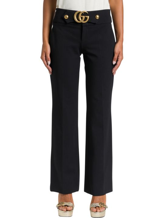 Gucci Gg Detail Jersey Trousers