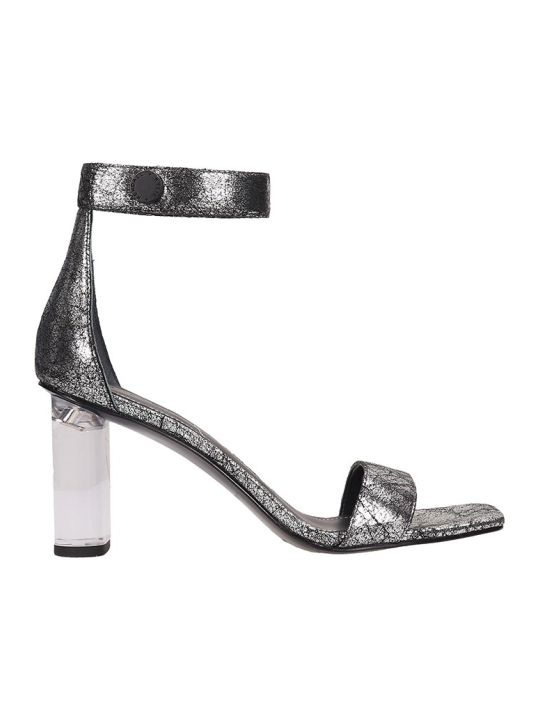 Kendall + Kylie Silver Leather Lexx3 Sandals