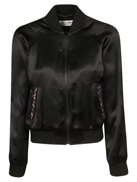 Saint Laurent Embroidered Teddy Jacket