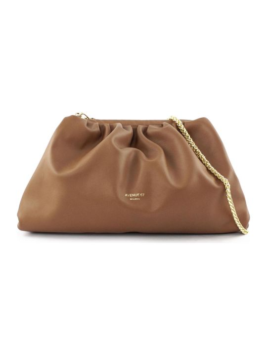 Avenue 67 Puffy Bag In Brown Leather