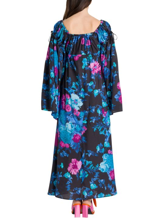 The Attico Floral Dress With Wide Sleeves