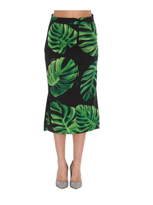 Dolce & Gabbana Filodendro Print Skirt