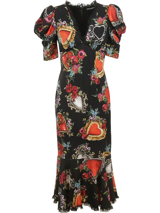 Dolce & Gabbana Sacred Heart Print Dress