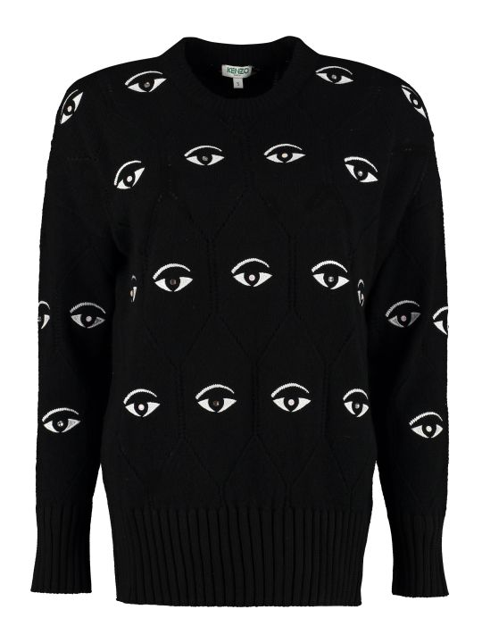 Kenzo Wool-blend Crew-neck Sweater
