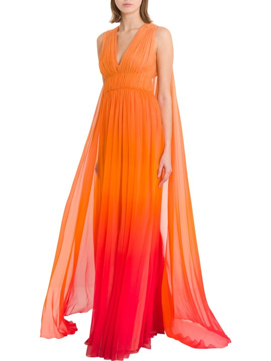 Alberta Ferretti Gradient Dress With Cloack