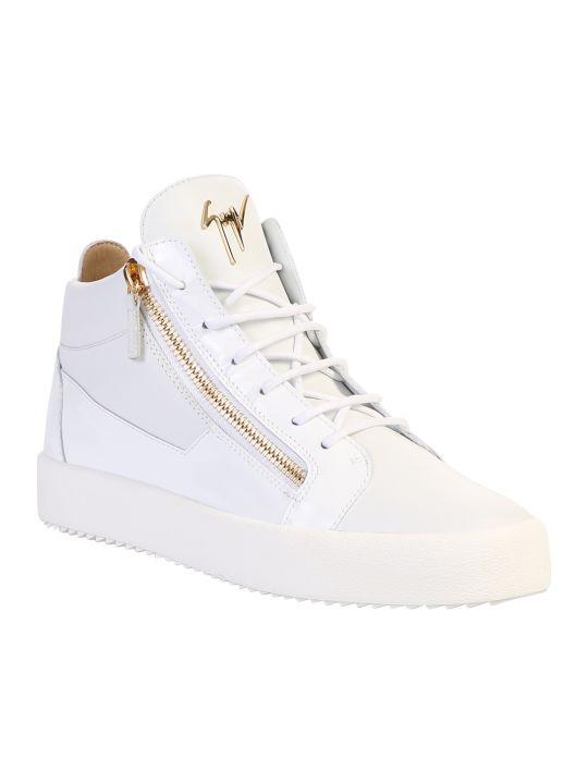 Giuseppe Zanotti White Zipped Sneakers
