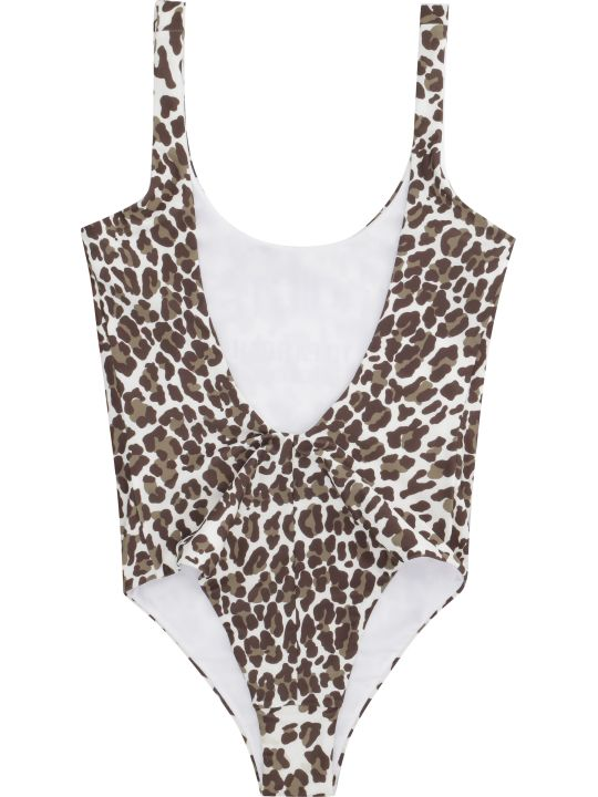 Parosh Leopard Print One-piece Swimsuit