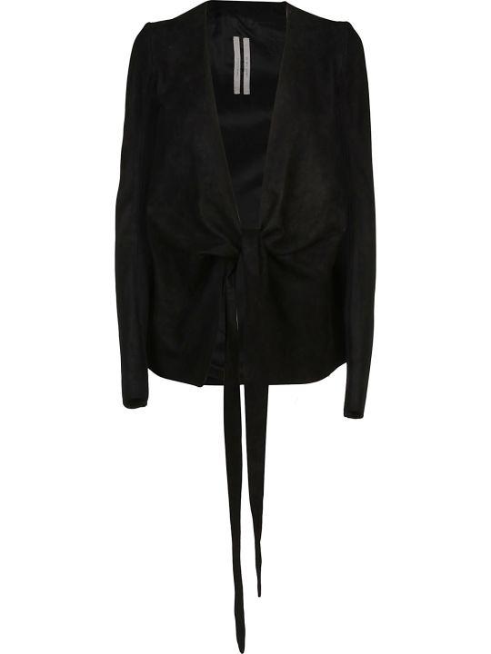 Rick Owens Leather Wrap Jacket