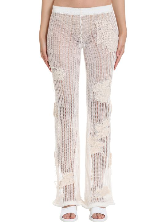 Acne Studios Koona Flower Pants In White Cotton