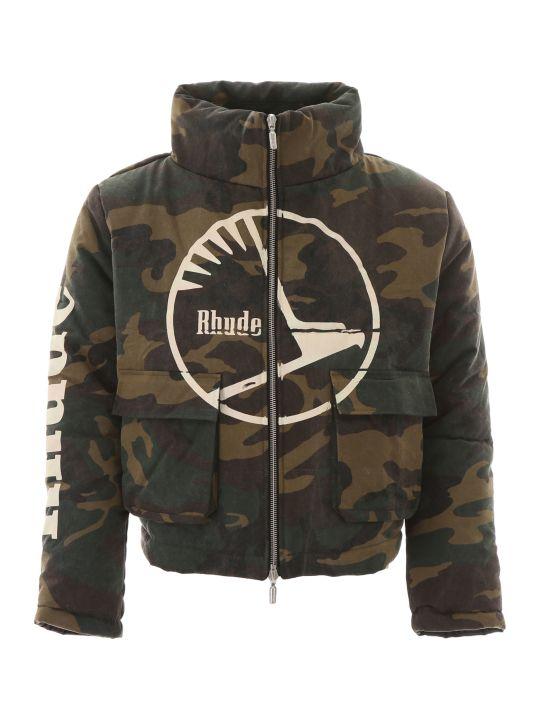 Rhude Camouflage Puffer Jacket