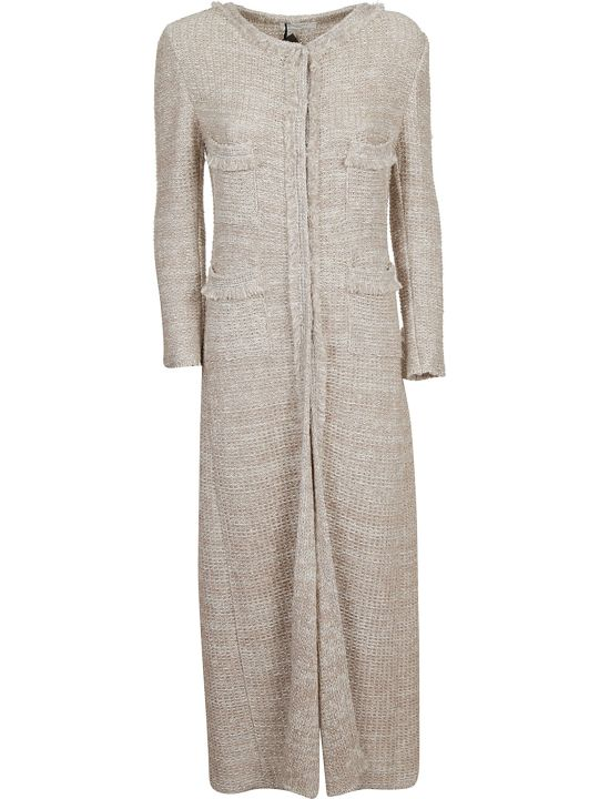 Charlott Frayed Trim Dress