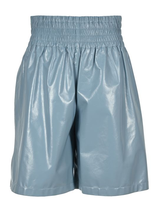 Bottega Veneta Shiny Leather Shorts