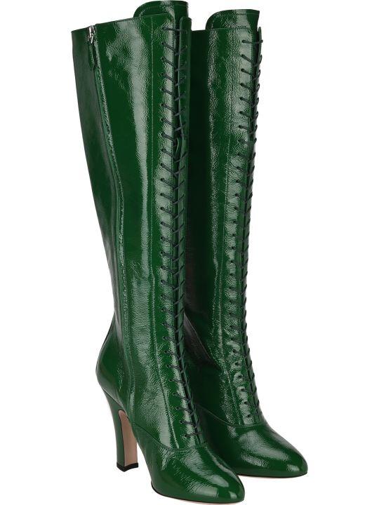 Miu Miu Lace-up Knee-high Boots