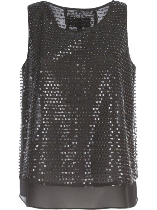 Emporio Armani Flared Top W/paillettes