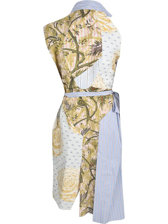 Vivienne Westwood Floral Print Striped Dress