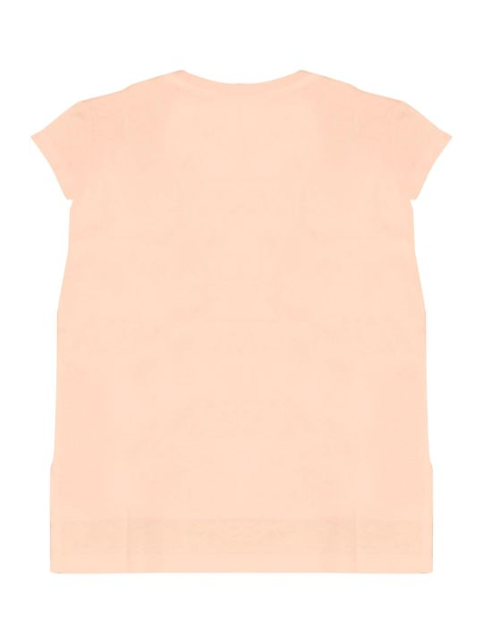 Fendi Pink Teen T-shirt With Multicolor Press